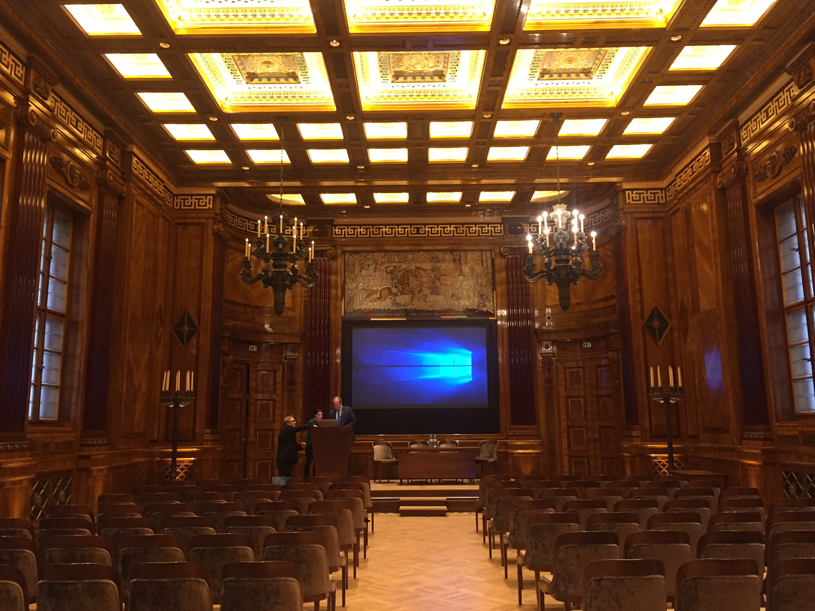 Lecture Hall at the Park Hyatt Hotel