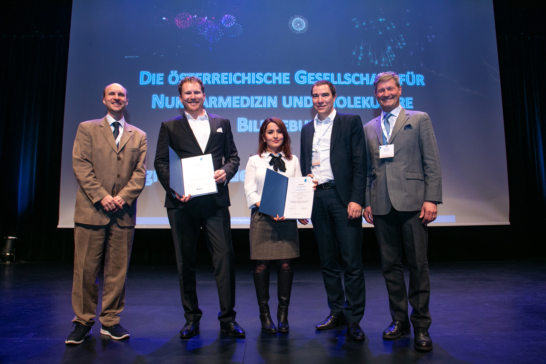 OGNMB Kongress Preisträger, Wolfgang Wadsak, Markus Hartenbach, Sazan Rasul, Marcus Hacker, Alexander Becherer