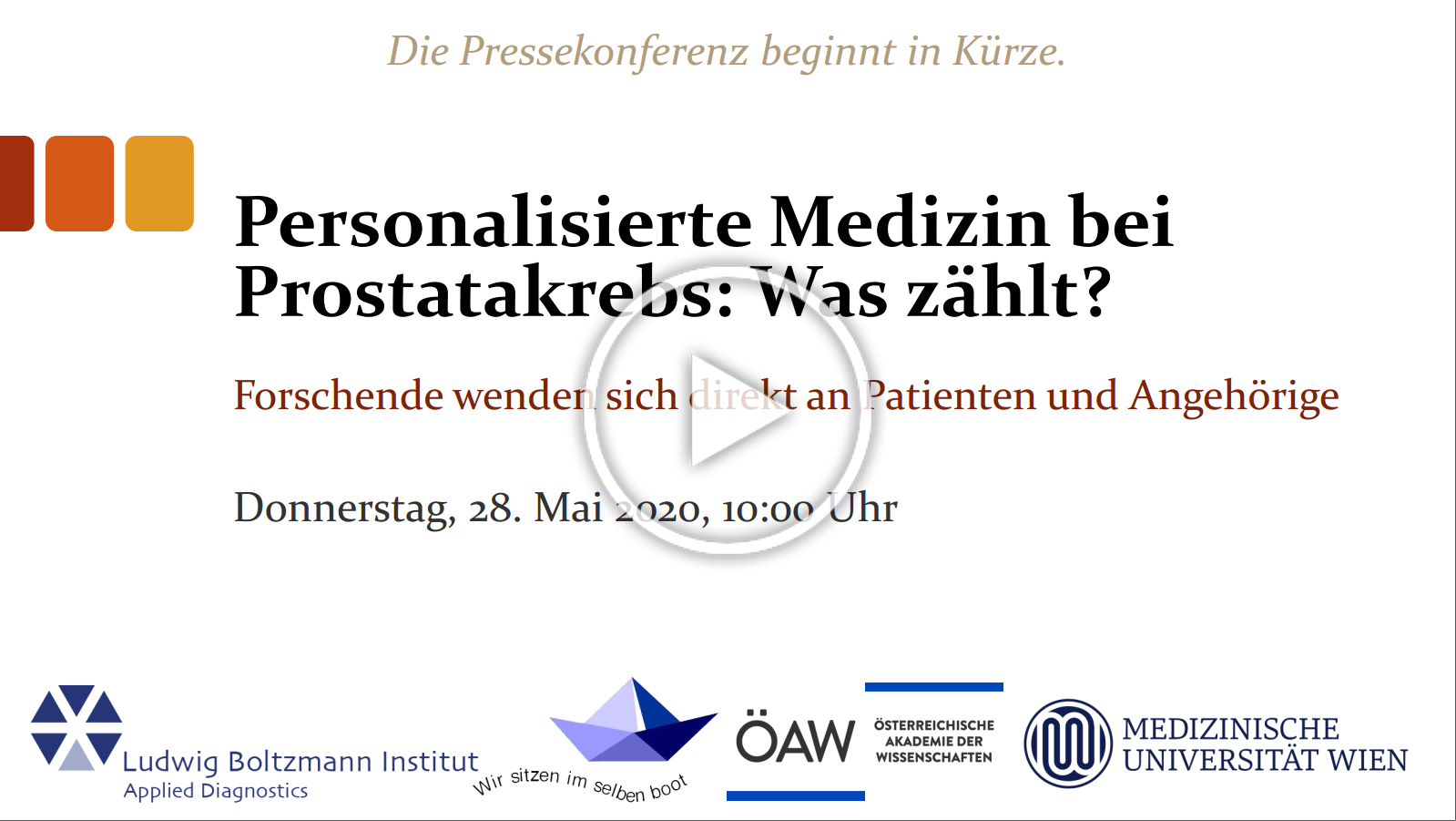 Video Virtuelle Pressekonferenz am 28.05.2020